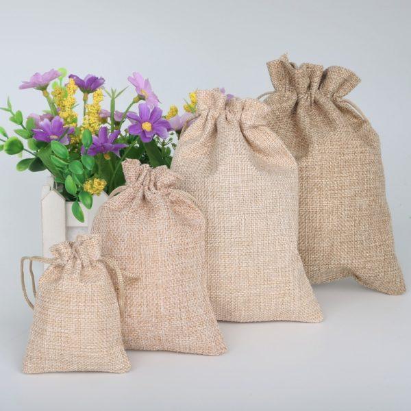 Мешки для подарков из джута